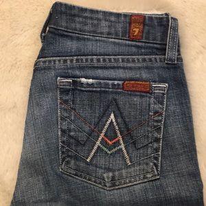 """Sz 24 7FAM """"A"""" pocket jeans"""